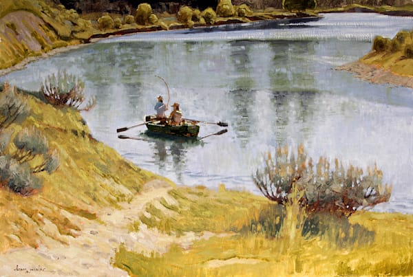 Fishing The Snake Art | Fine Art New Mexico