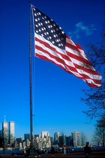Flag Twin Towers Art | Fine Art New Mexico