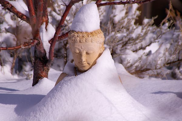 Buddha With Snow