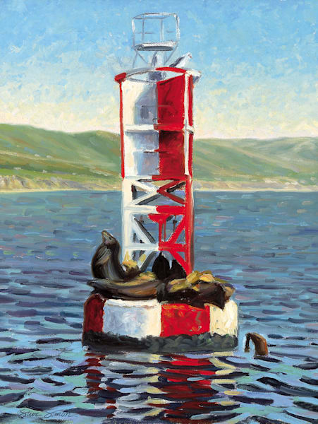 Sea Lions on Bell Buoy