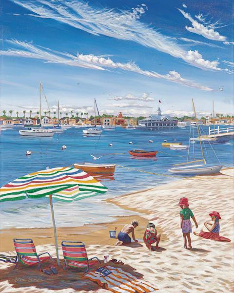 Balboa Island Beach Scene