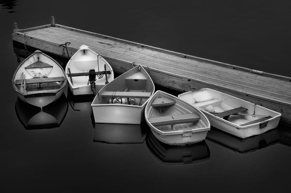 Fishing Boat black and white fine art photography/Collectible art prints of New England coastal scenes by Thomas Schoeller