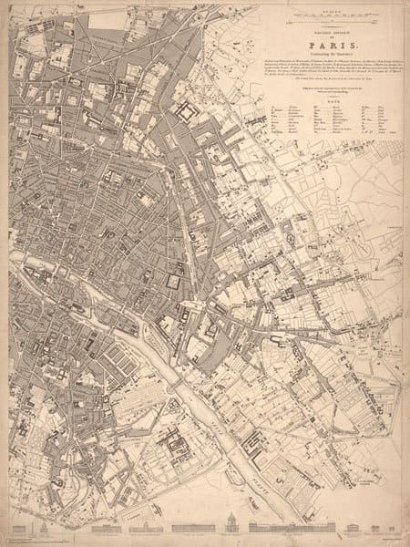 1833 Paris Map