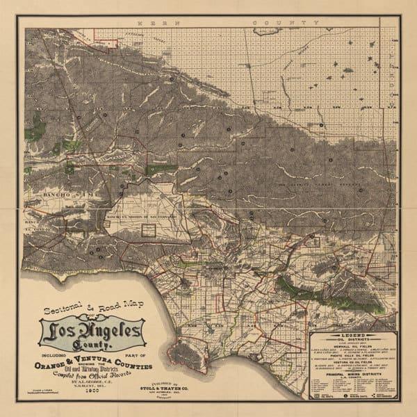 1900 LA Road Map