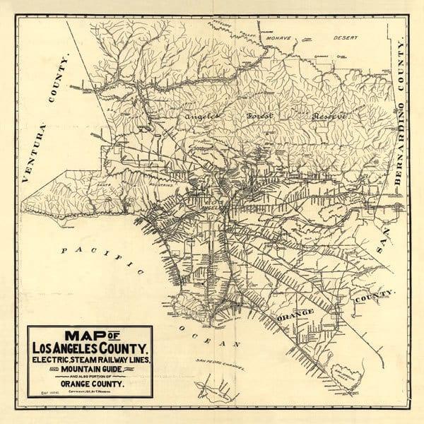 1912 LA Railway Map