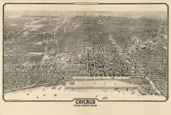 1910 Chicago Map