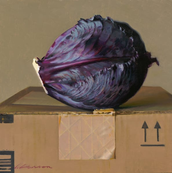 """Red Cabbage 10""""x10"""""""