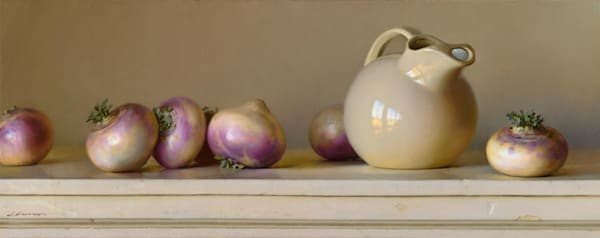 "Turnips & Pitcher 30""x12"""