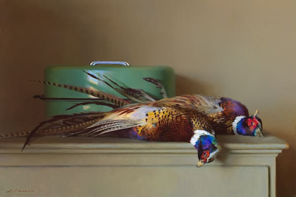 "Two Pheasants 36""x24"""