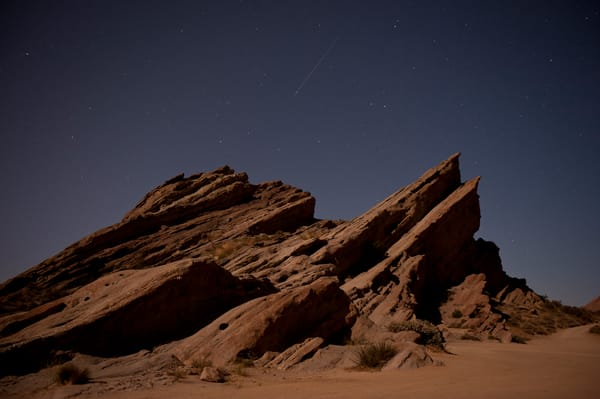 Vasquez Rocks Shooting Star, Agua Dulce, California
