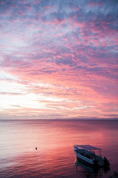 Dive Boat Sunset, Taveuni, Fiji