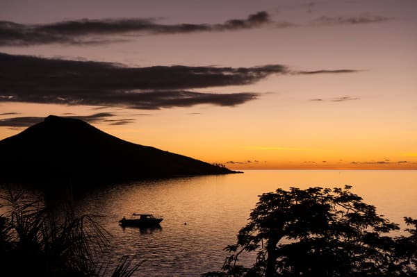 Sunset Silhouette, Rakiraki, Viti Levu, Fiji