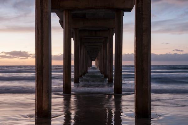 Scripps Pier Sunset Wave Blur, La Jolla, California