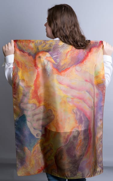 Silk Scarves and Worship Flags by Cathy Schock at Prophetics Gallery.