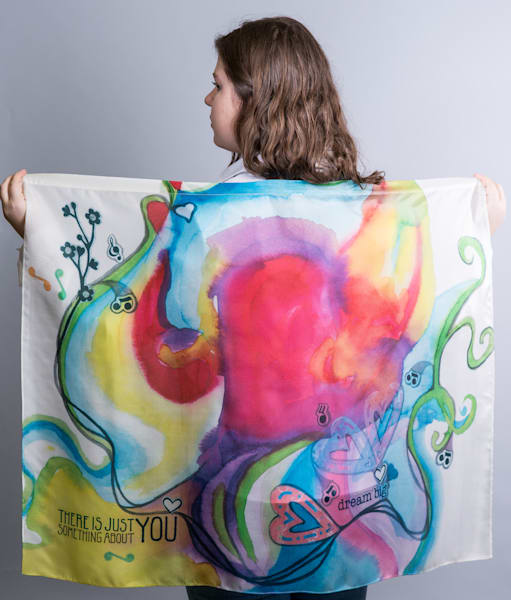 Silk Scarf and Worship Flag by Cathy Schock at Prophetics Gallery.