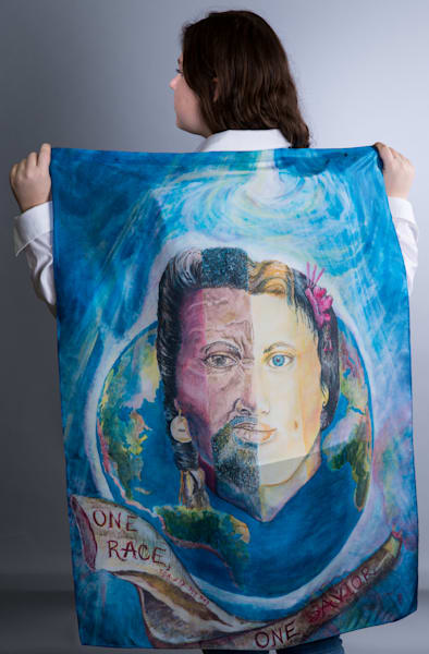 Silk Scarf or Worship Flag by Cathy Schock at Prophetics Gallery.