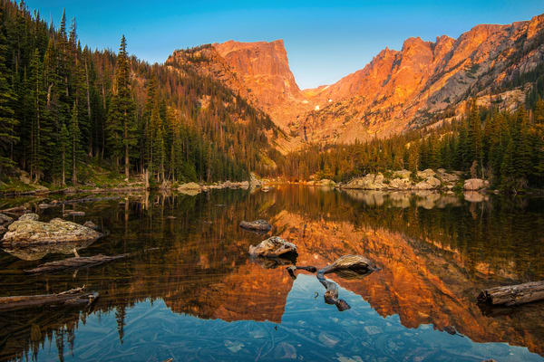 Rocky Mountains of Colorado sunrise prints/Beautiful Dream lake as captured by Thomas Schoeller