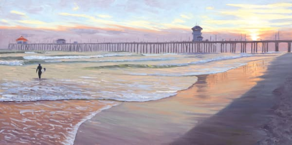 Huntington Beach Paintings by Steve Simon