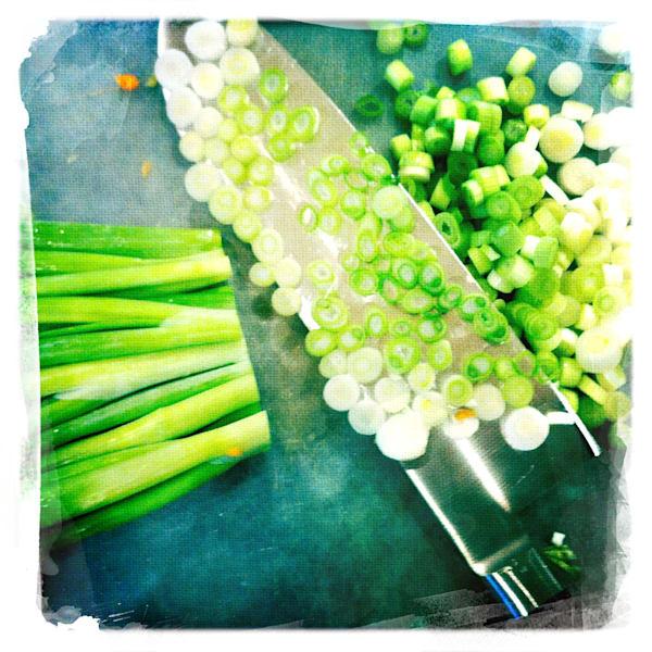Cutting Green Onions
