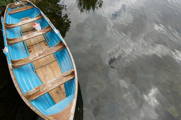Blue Boat at Ashford Castle
