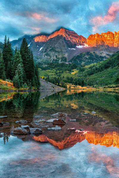 Aspen Colorado's glorious Rocky Mountains fall foliage and Maroon Bells reflections/ fine art nature photography prints for home or office