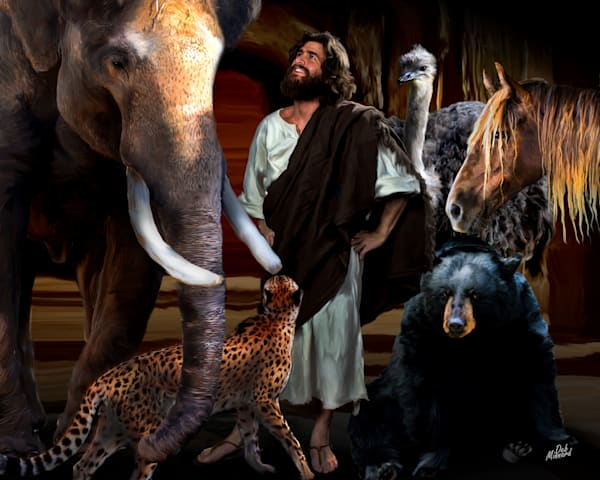 Jesus amoung his created animals