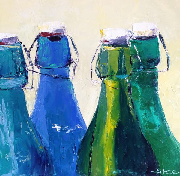 Glass Bottles by Shannon Celia an American painter.