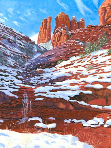 Cathedral Rock Snow Melt