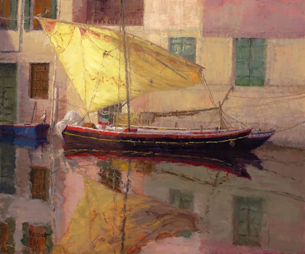 Sail Drying Chioggia Italy, Joe Anna Arnett