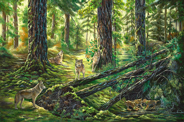 Wolves In The Forest Art by fineart-new mexico