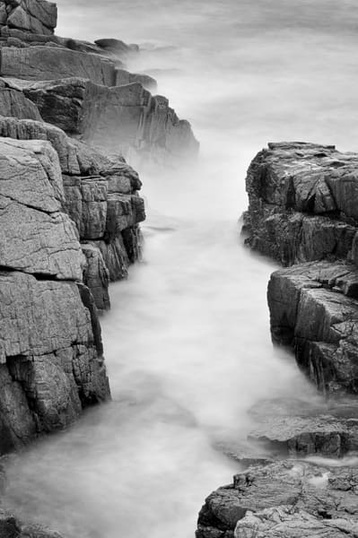 Acadia National Park B&W fine art photography prints/a beautiful long exposure from the Maine coast