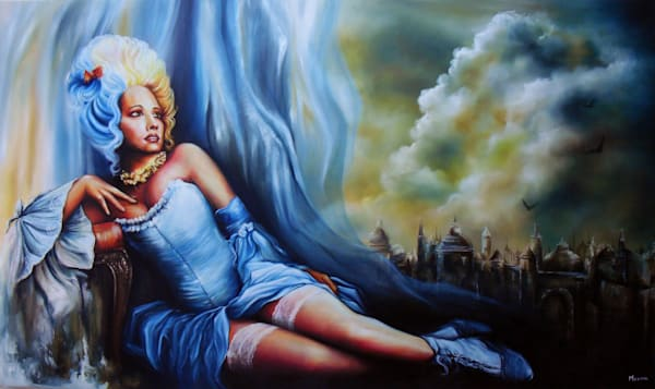 Mariantoinette by Beatriz Morera a Cuban painter.