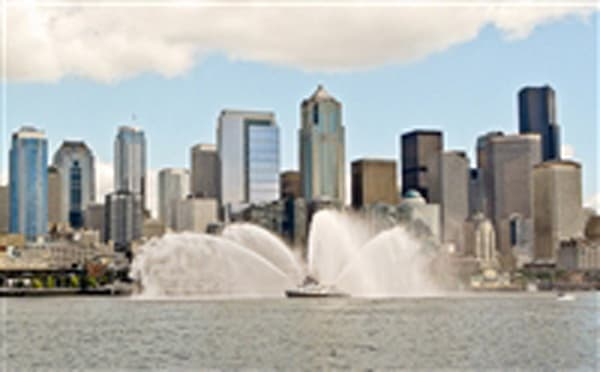 Seattle Downtown and Fireboat