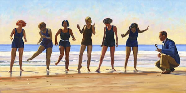 Women Doing Charleston on the Beach