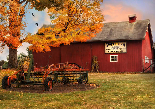 Litchfield CT Countryside Barn Fine Art prints by Thomas Schoeller/Painterly wall decor pieces for home or office