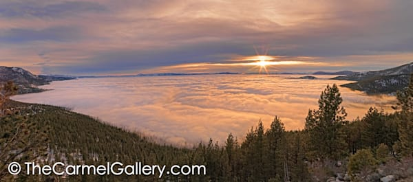 Sunset over Fog, Lake Tahoe