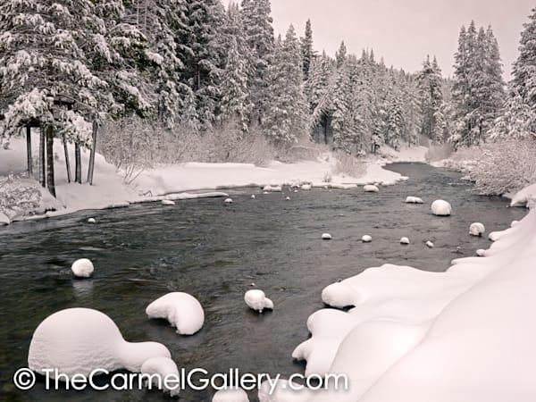 Snow Patterns, Truckee River