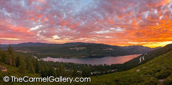 Sunset Panorama, Donner Lake