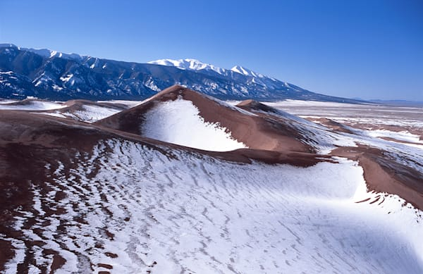 Snow on Star Dune