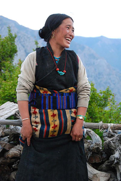 Smiling Woman in Traditional Dress