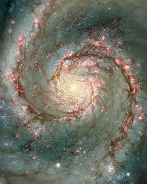 Heart of the Whirlpool Galaxy