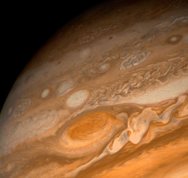 Jupiter's Red Spot from Voyager