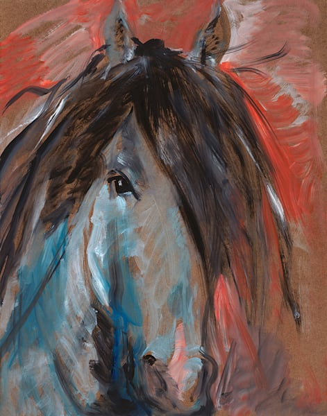 Blue Grey Horse Art | Fine Art New Mexico