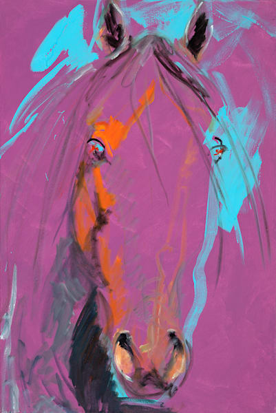 Pink Blue Horse Art | Fine Art New Mexico