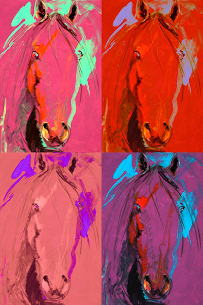 Purple Horses X 4 Art | Fine Art New Mexico