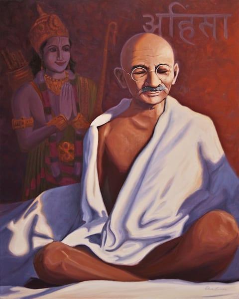 Mahatma Gandhi in Meditation