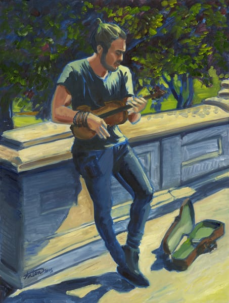 minstrel,art,gyclee,painting,reproduction,anton uhl