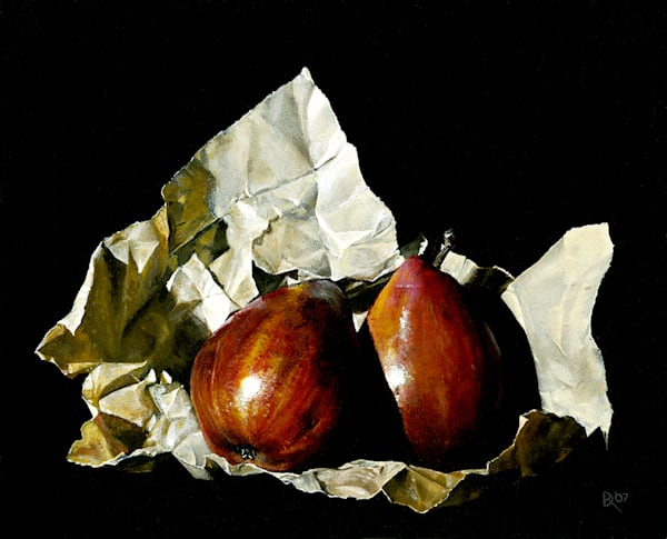 Two Pears In Paper