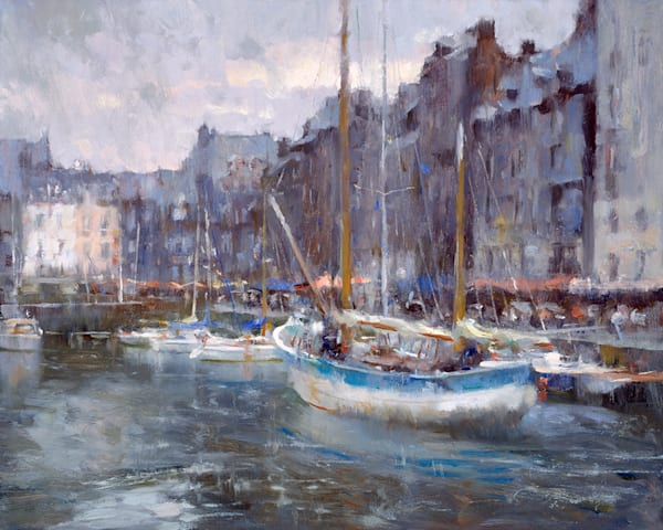 Rainy Day Honfleur Harbor
