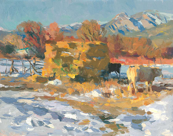 Winter Pastures Art   Fine Art New Mexico